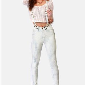 Denim - Dittos high rise Santana skinny suspender jeans